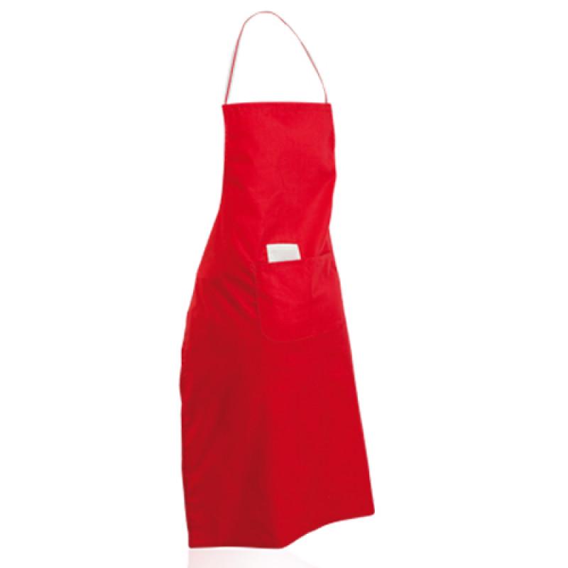 delantal color rojo