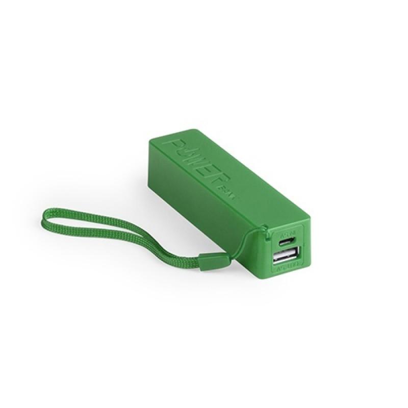 batería power bank keox verde