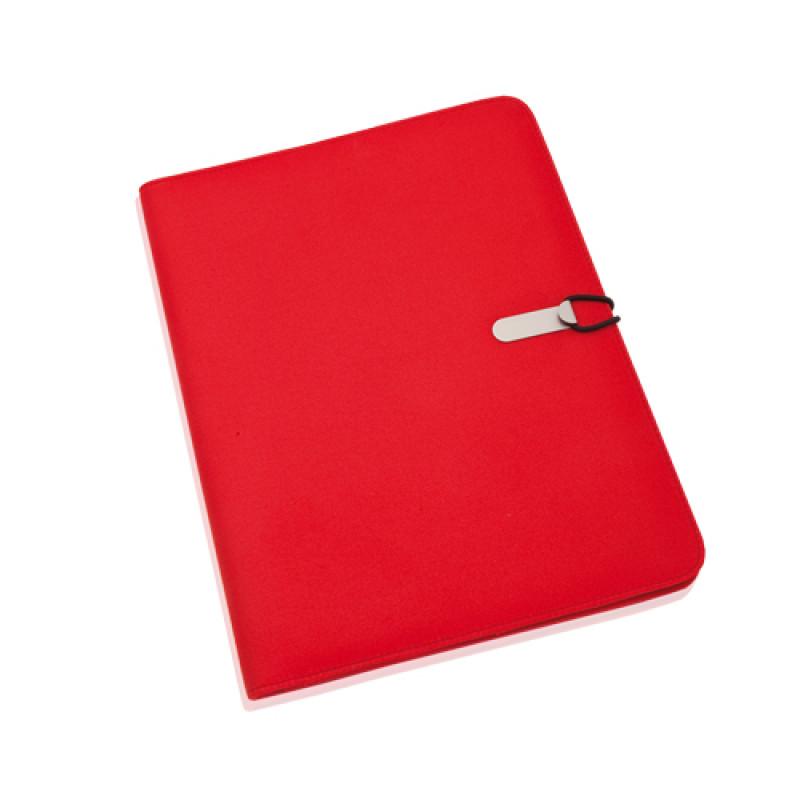 carpeta portadocumentos microfibra color rojo
