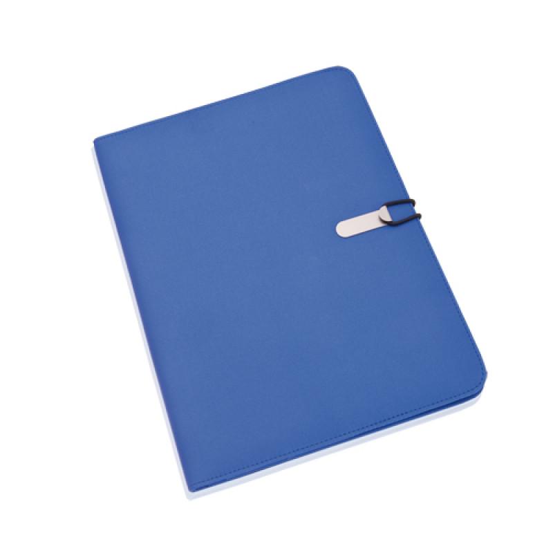 carpeta portadocumentos microfibra color azul