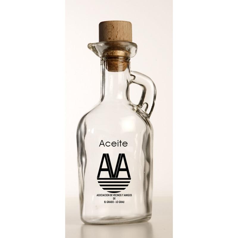Aceitera de cristal personalizada AVA