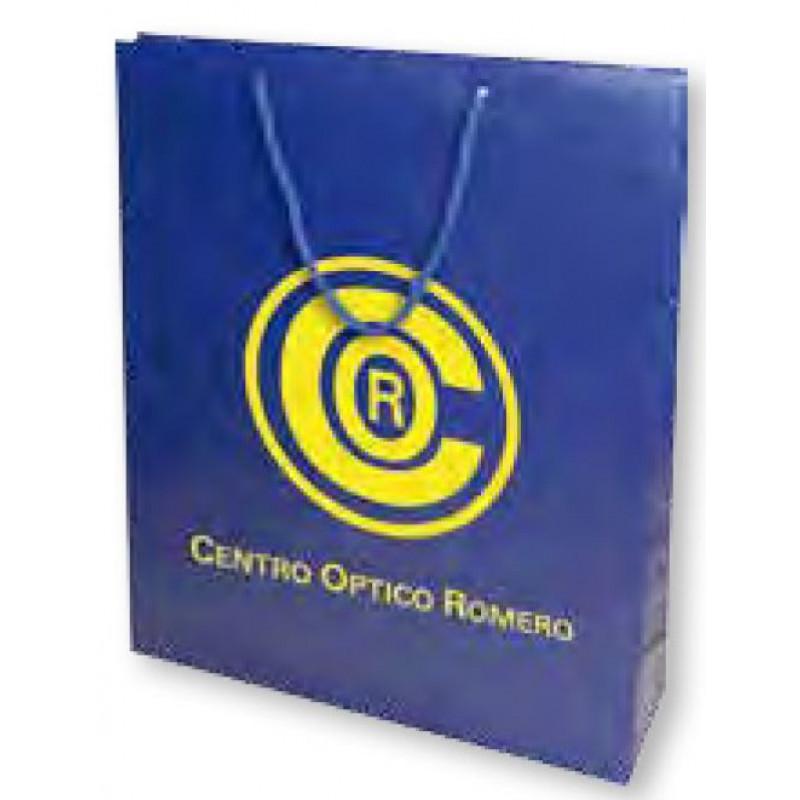 Bolsa de regalo PVC en tamaño ancho:(18 cm) + Fuelle(7,5 cm) x Alto(24 cm)