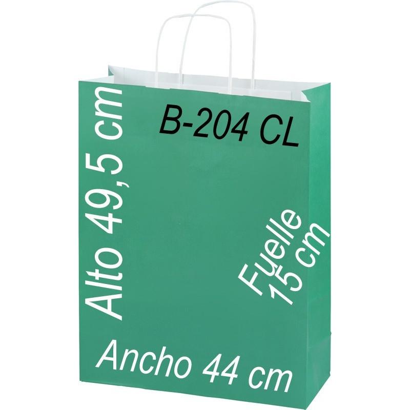 Bolsa Multiusos de pape celulosa con asa retorcida tamaño 44 x 49 cm