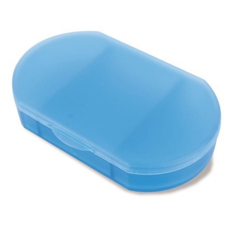 pastillero de bolsillo barato azul
