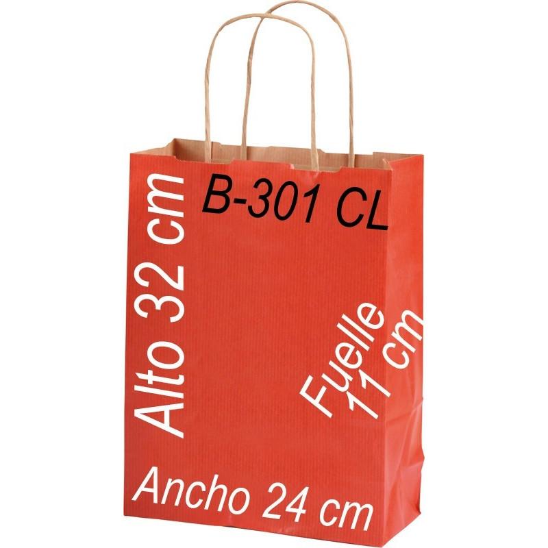 Bolsa Multiusos papel Kraft 24x32 Asa retorcida kraft fondo de color