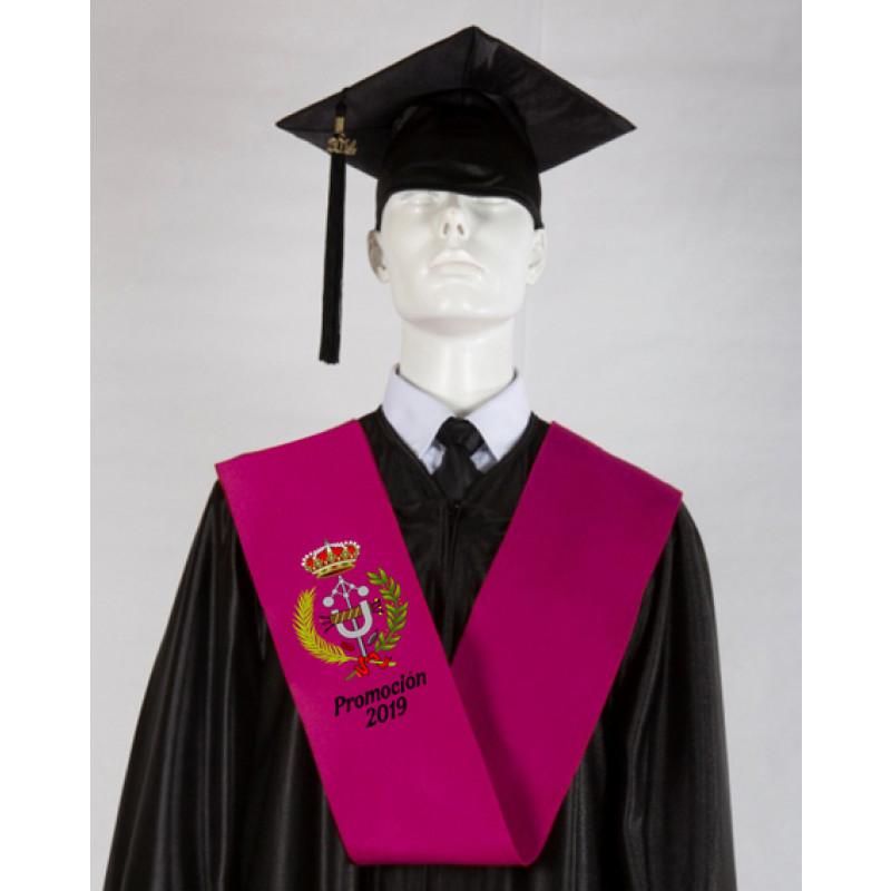 banda graduación universidad bordada