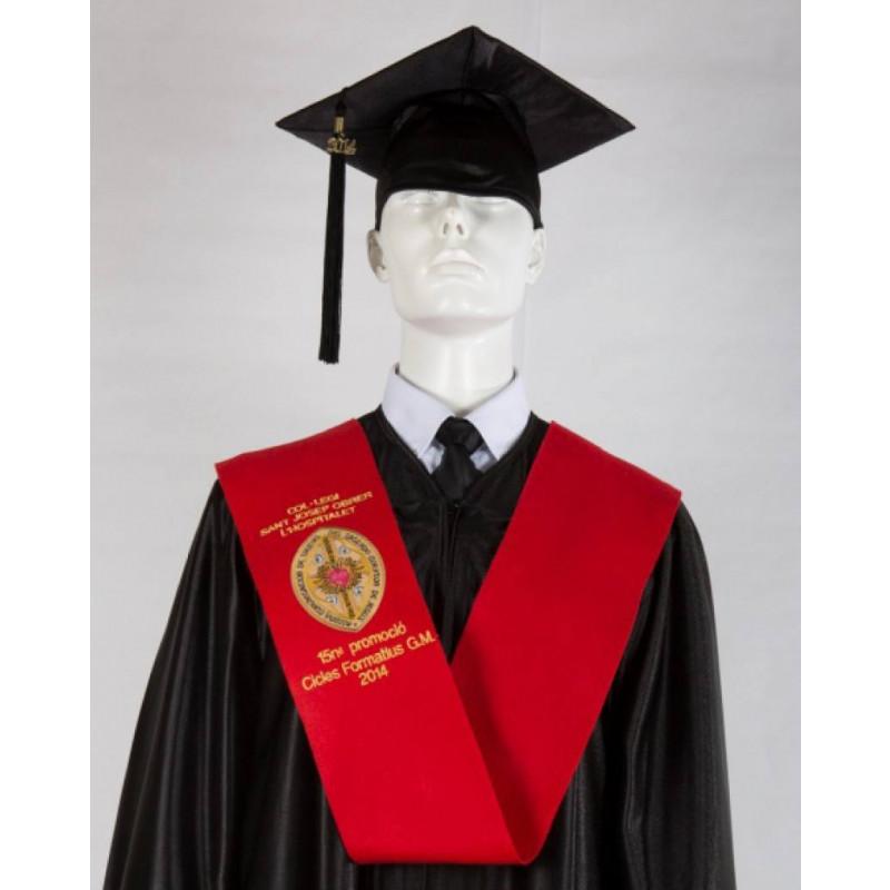Beca bordada para graduaciones