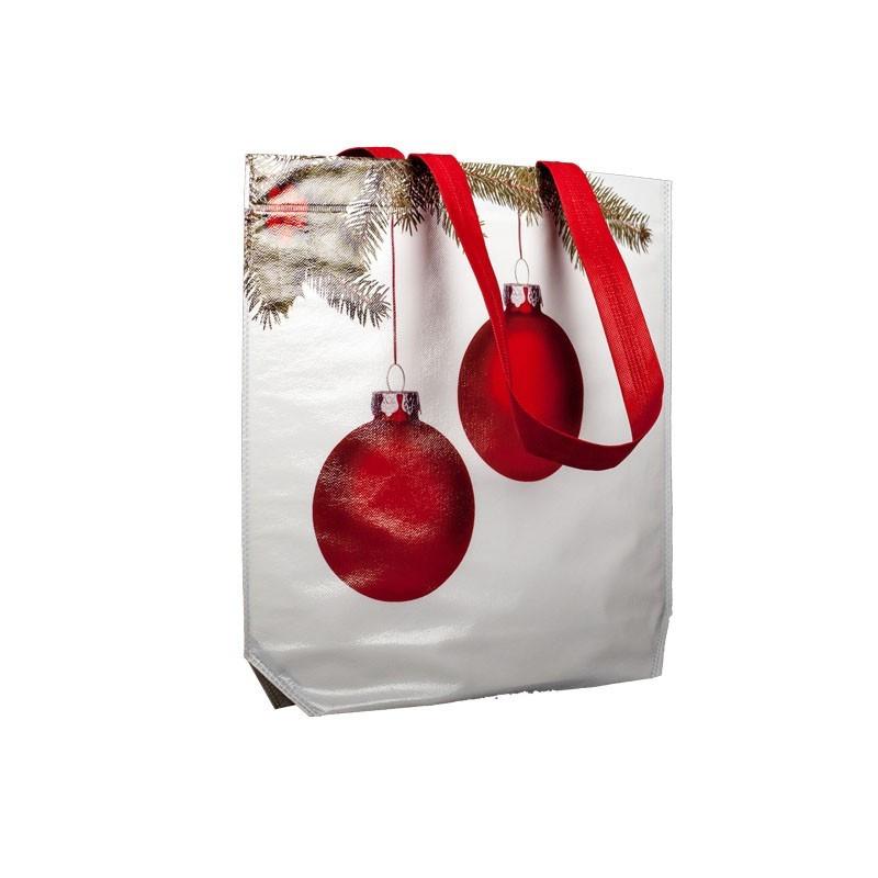 Bolsa navideña con bolas 42x40x10
