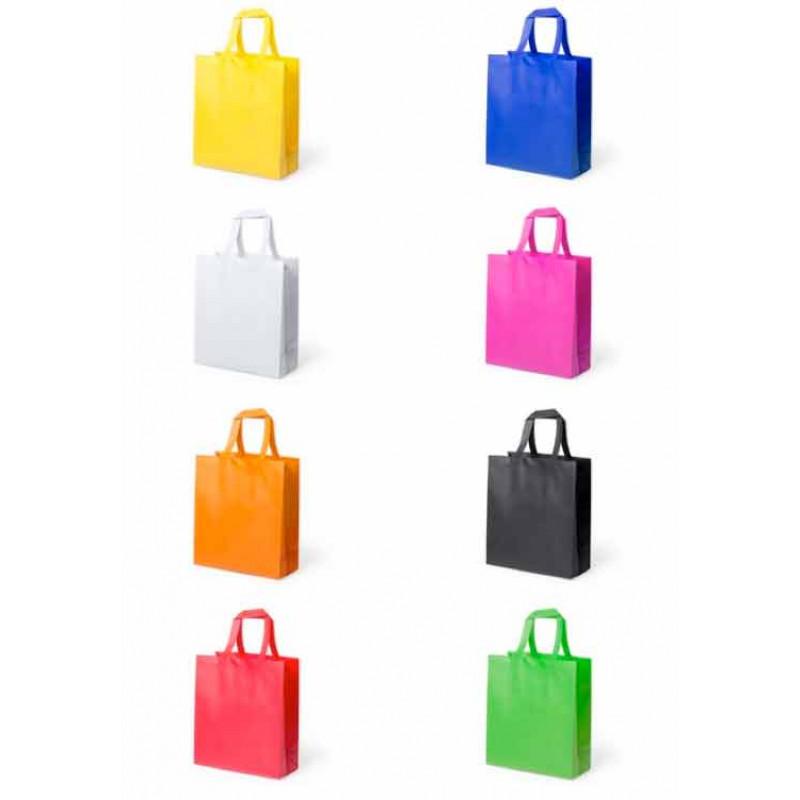Colores bolsa publicidad reutilizable 35x40x15