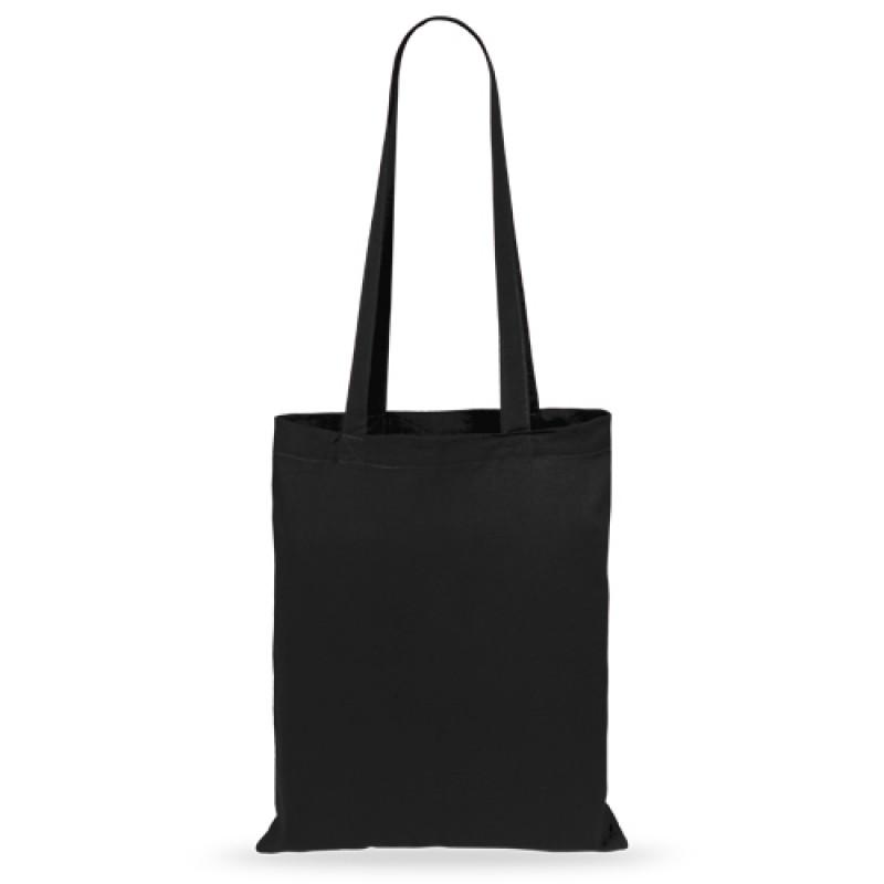 bolsa de algodón geiser con asa larga negra