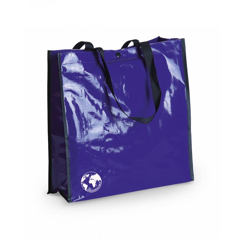 Bolsa biodegradable publicidad para comercios azul