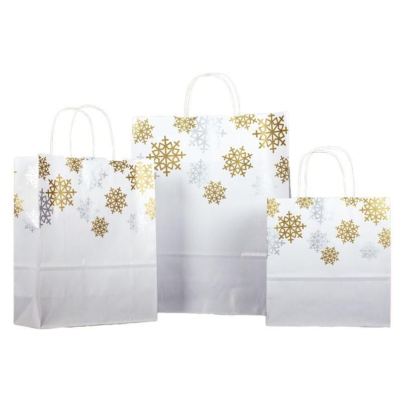 Bolsa de papel navideña para comercios