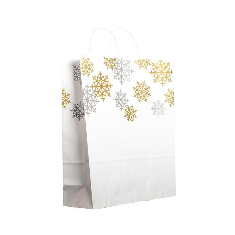 Bolsa de papel para comercios motivos navideños