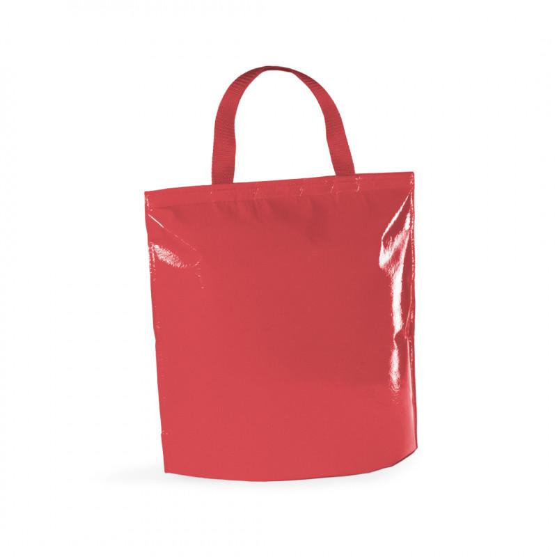 bolsa nevera acabado brillo roja 37x34x15