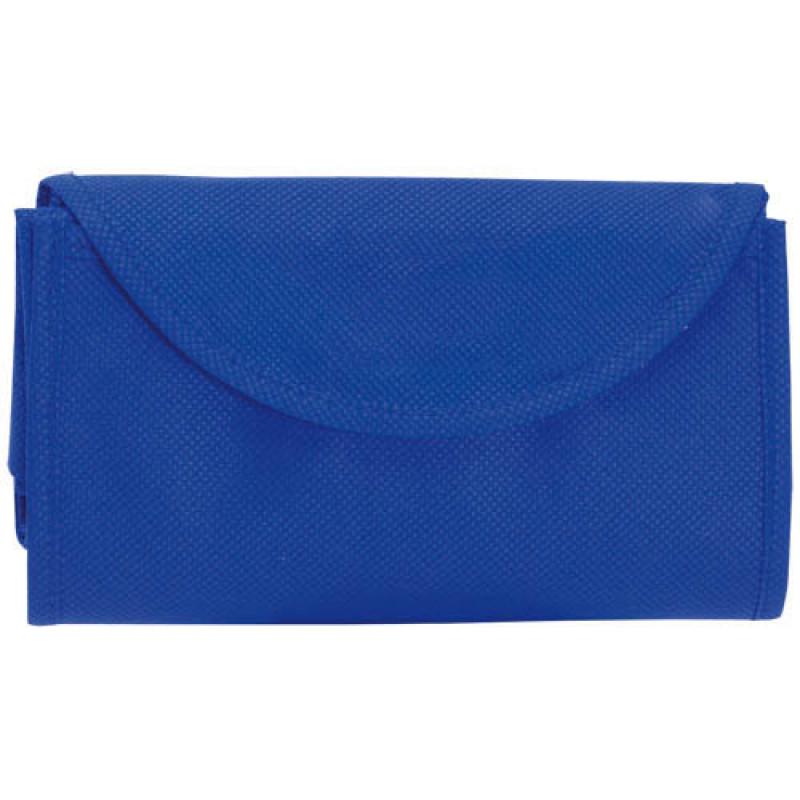 bolsa plegable azul 38x42