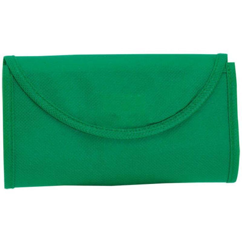 bolsa plegable verde 38x42