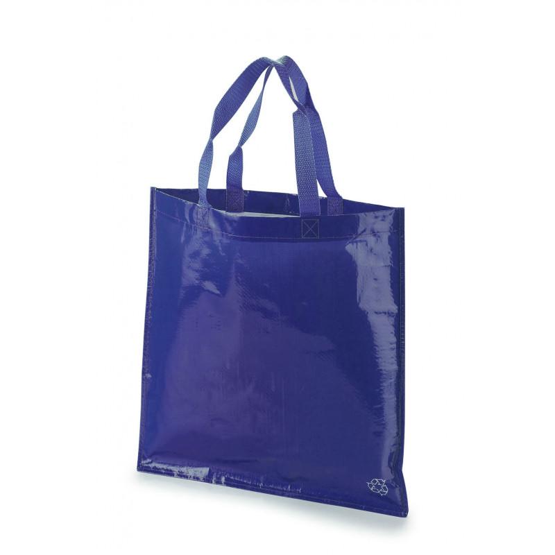 bolsa tejido rafia 40x40 sin fuelle color azul