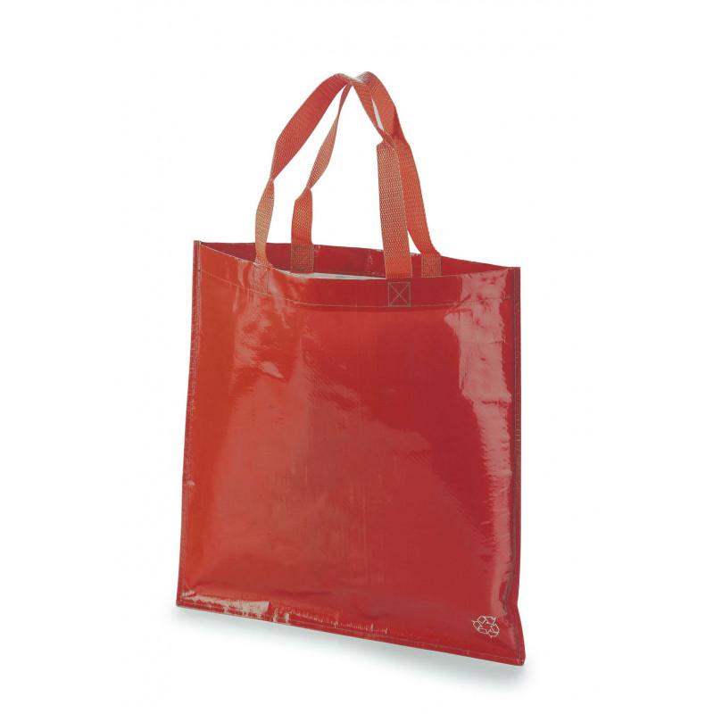 bolsa tejido rafia 40x40 sin fuelle color rojo