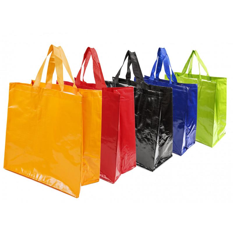 bolsas de rafia brillo para supermercado