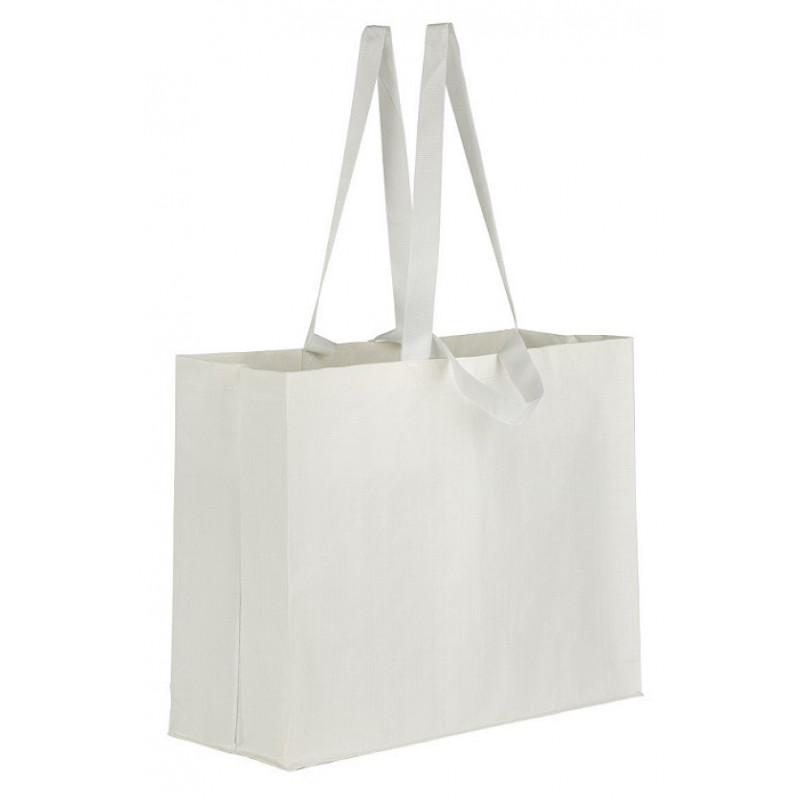 bolsa rafia extra grande blanca mate