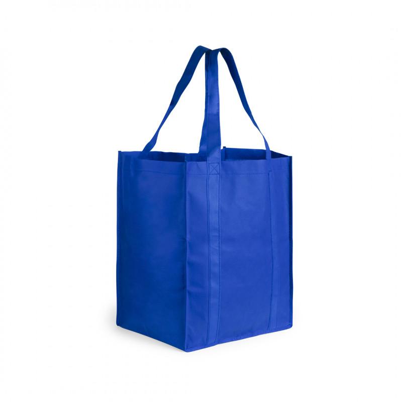 bolsa supermercados gran tamaño azul