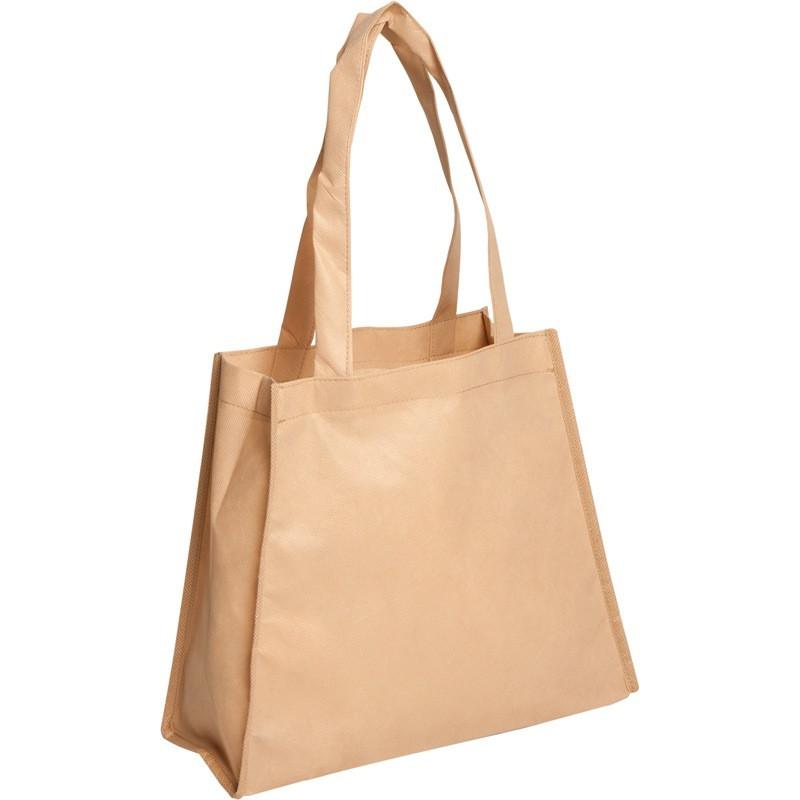 bolsa de tela trapecio crema