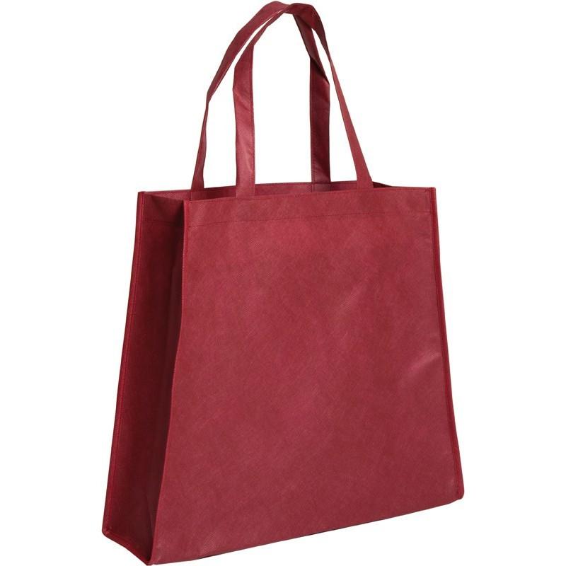 Bolsa de tela trapecio roja