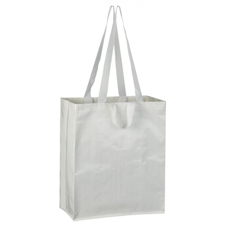 bolsa de rafia blanca brillo 36x43x20