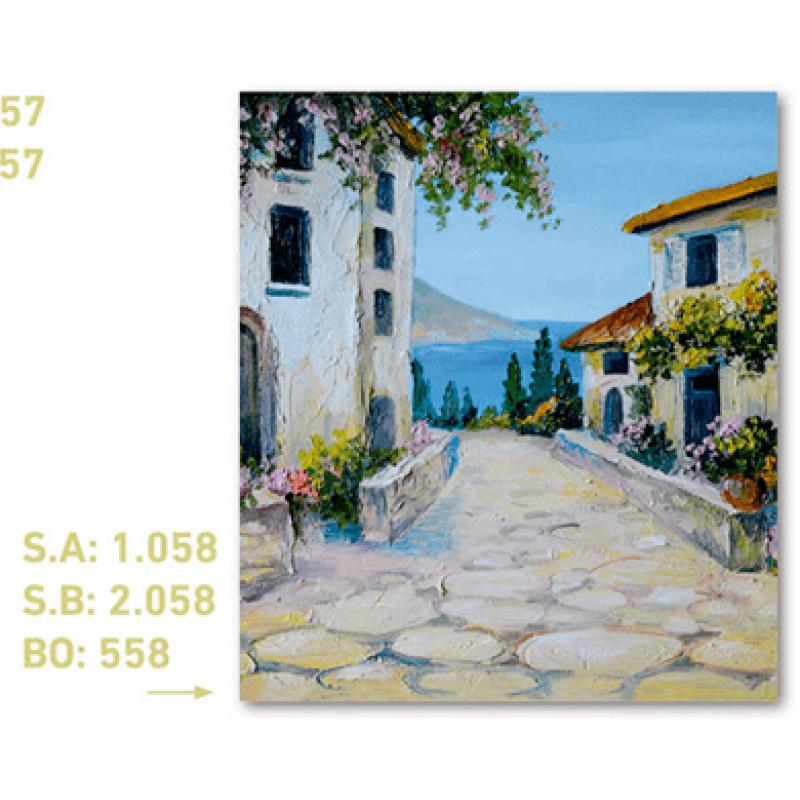 calendario de bolsillo pintura pueblo