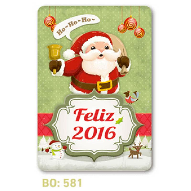 calendario bolsillo feliz navidad 2016
