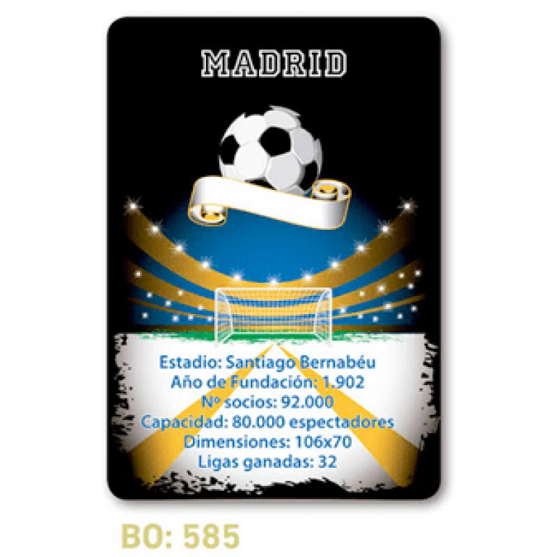 calendario de bolsillo futbol madrid