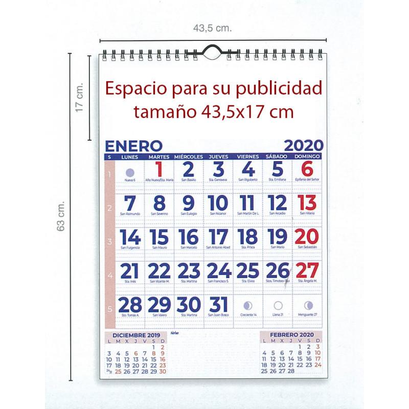 calendario de pared extragrande con espacio para notas cada día del año