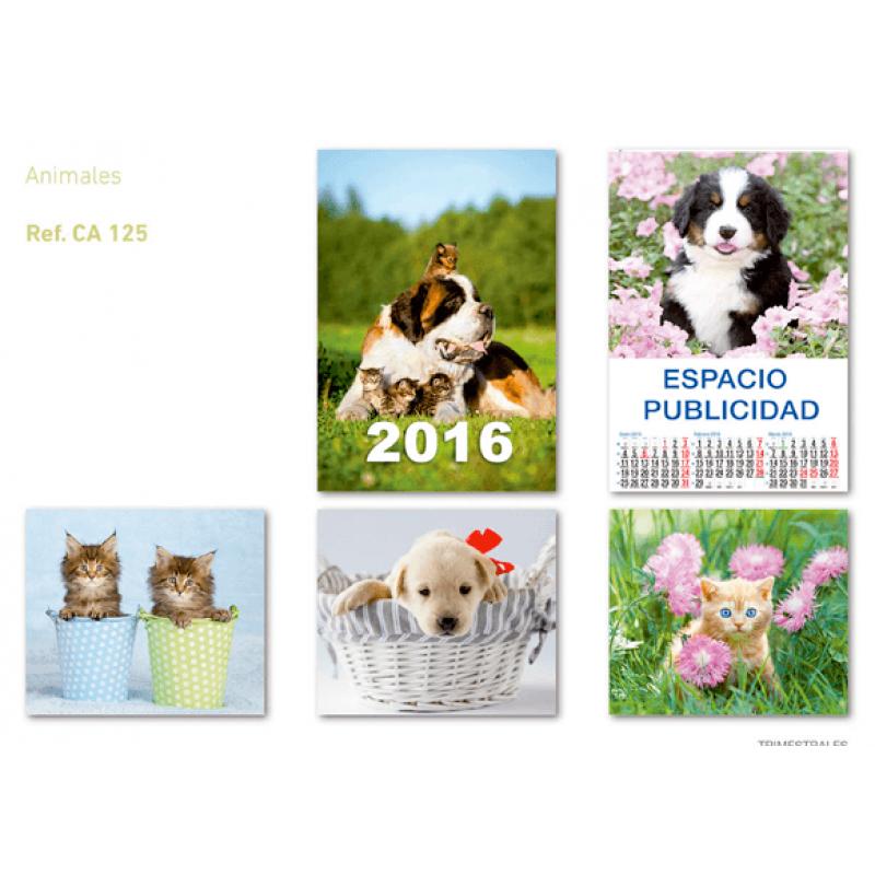 calendario publicidad de pared 5 hojas perros