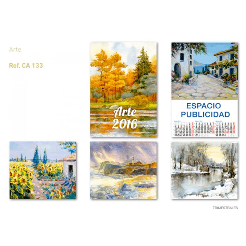 calendario publicidad de pared 5 hojas laminas arte