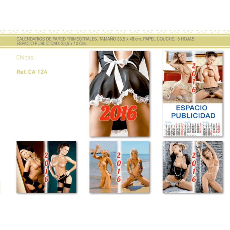 calendario publicidad de pared 5 hojas chicas