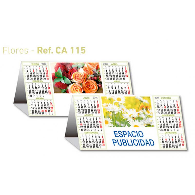 calendario publicidad flores