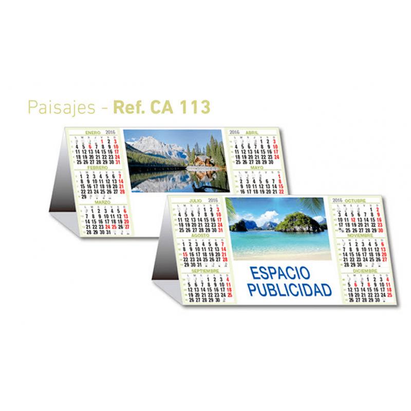 calendario sobremesa semestral paisajes