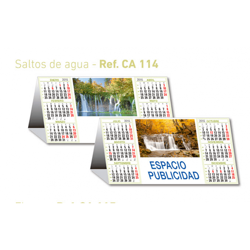 calendario publicidad saltos agua