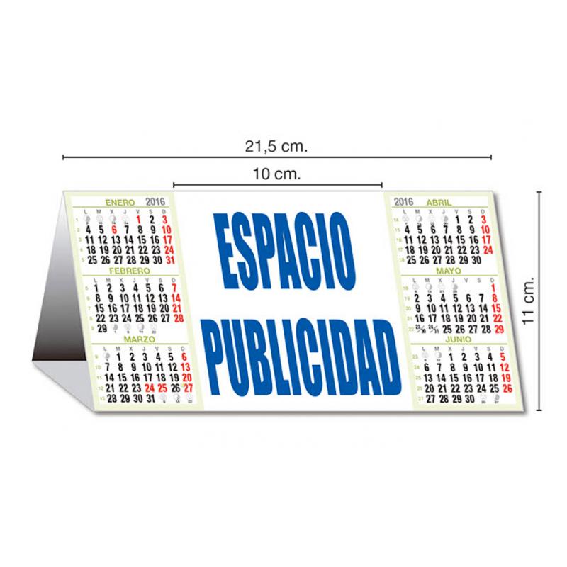 calendario publicidad sobremesa semestral neutro