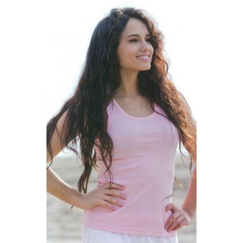 Camiseta Tirantes de mujer Manga Corta 100% Algodón Peinado.