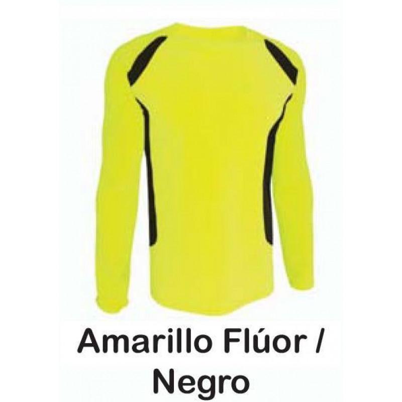 camiseta técnica fluor combinada