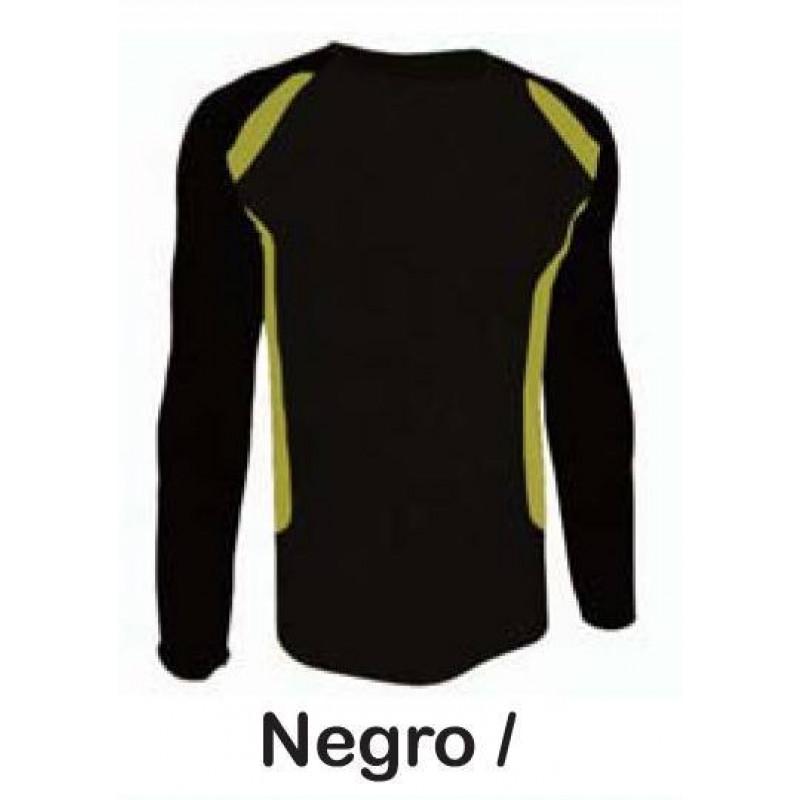 camiseta técnica negra combinada