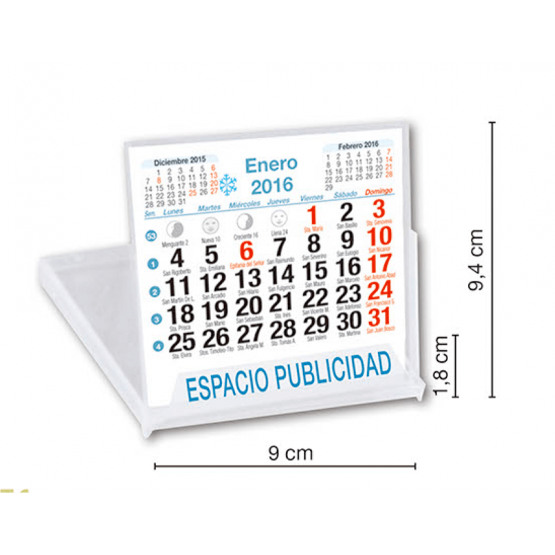 calendario sobremesa CD neutro