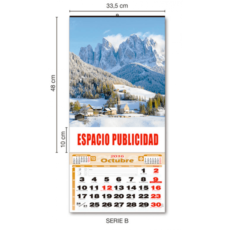 MEDIDAS CALENDARIO DE PARED 33 CM