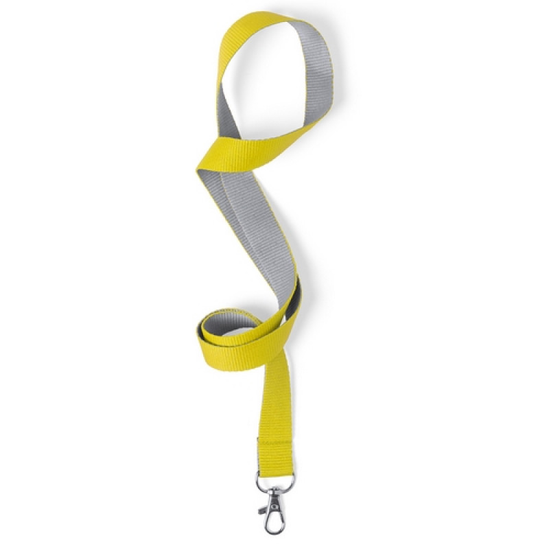 Cinta colgador Acreditación Gris-Amarilla