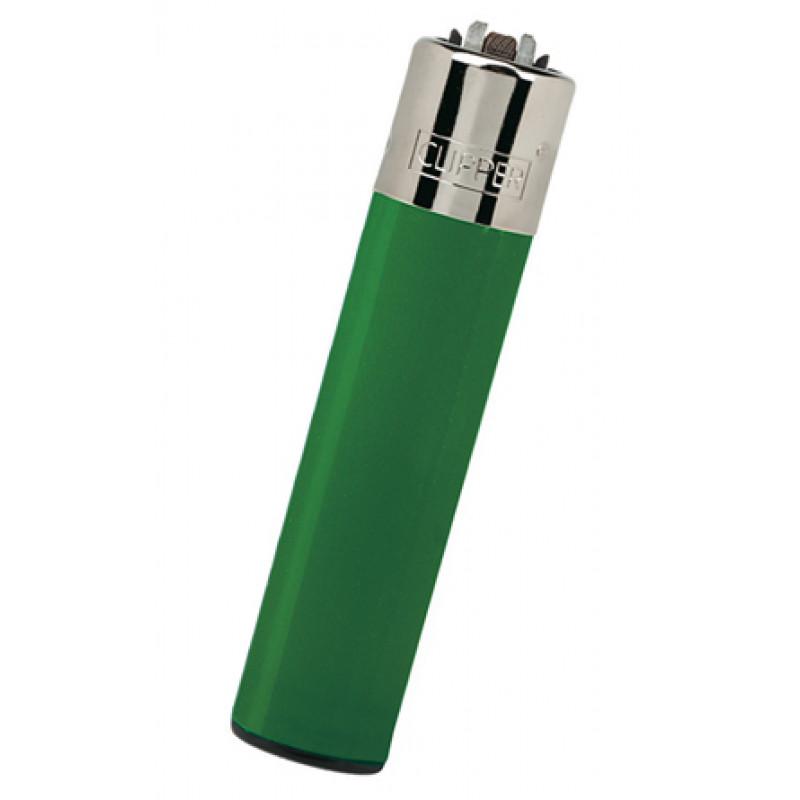 Encendedor Clipper Recargable Largo verde