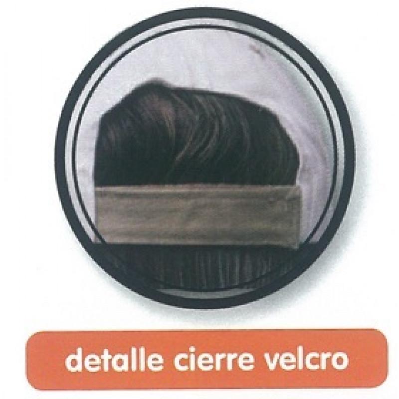 Cierre velcro Gorra Piel Melocotón. 5 paneles.