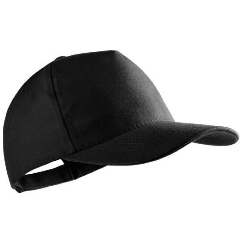 gorra publicitaria algodon peinado negra