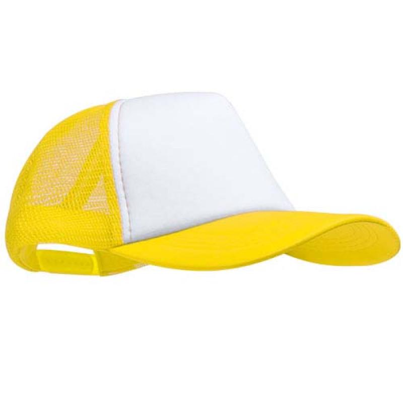 gorra publicitaria rejilla amarilla