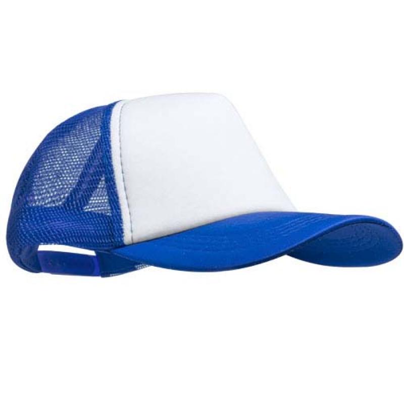 gorra publicitaria rejilla azul